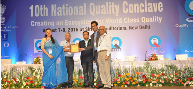 Recipient of QCI - D.L. Shah National Quality Award