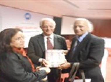 Our Advisor Dr. Mahesh C Gupta with Member of the Planning Commission and Chairman of the Quality Council of India (QCI) Mr Arun Maira and Senior Scientist at National Physical Laboratory Dr Jyoti Lata Pandey