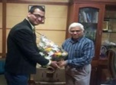 Our Director, Mr Syed S Abbas with Secretary General of the Quality Council of India (QCI) Mr. B. Venkataraman