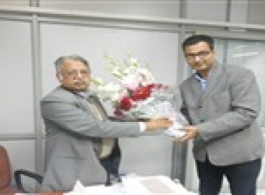 Our Post Gradudate and Executive Diploma Programmes Approval Ceremony: Our Director Mr Syed S Abbas with Advisor, Quality Council of India (QCI) Mr Avik Mitra