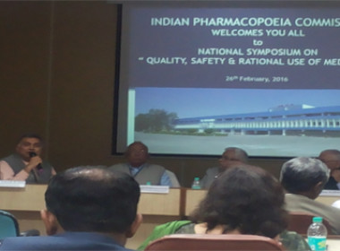 Our Principal Advisor &  Member of Indian Pharmacopoeia Commission (IPC) Scientific Body Mr Vinod Arora speaking in National Symposium on Quality, Safety and Rational Use of Medicines conducted by IPC, Ministry of Health & Family Welfare